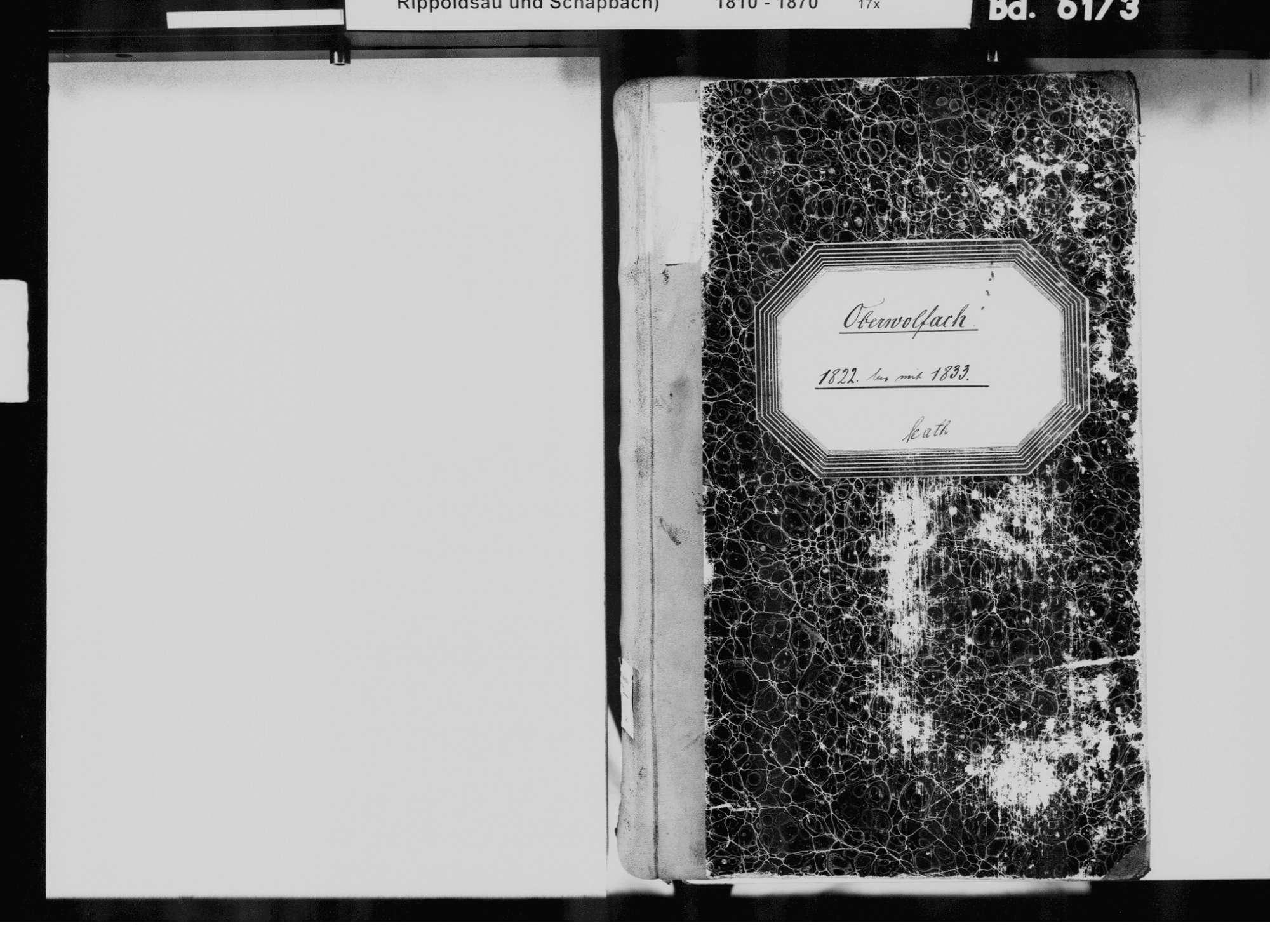 Oberwolfach OG; Katholische Gemeinde: Standesbuch 1822-1833, Bild 3