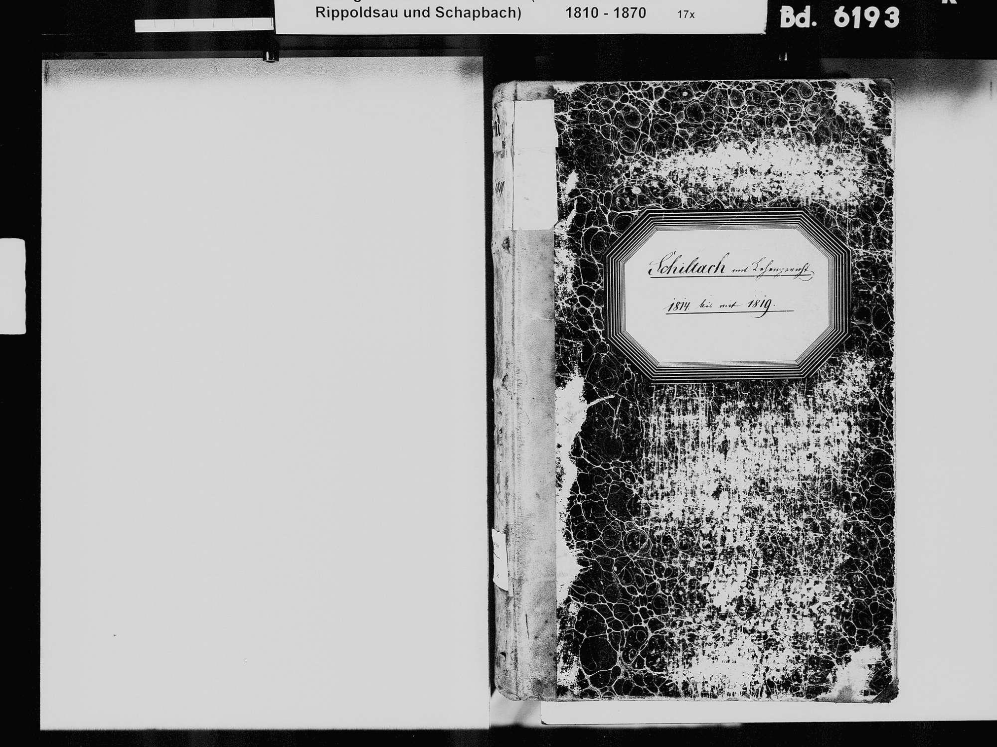 Schiltach RW; Evangelische Gemeinde: Standesbuch 1814-1819, Bild 3