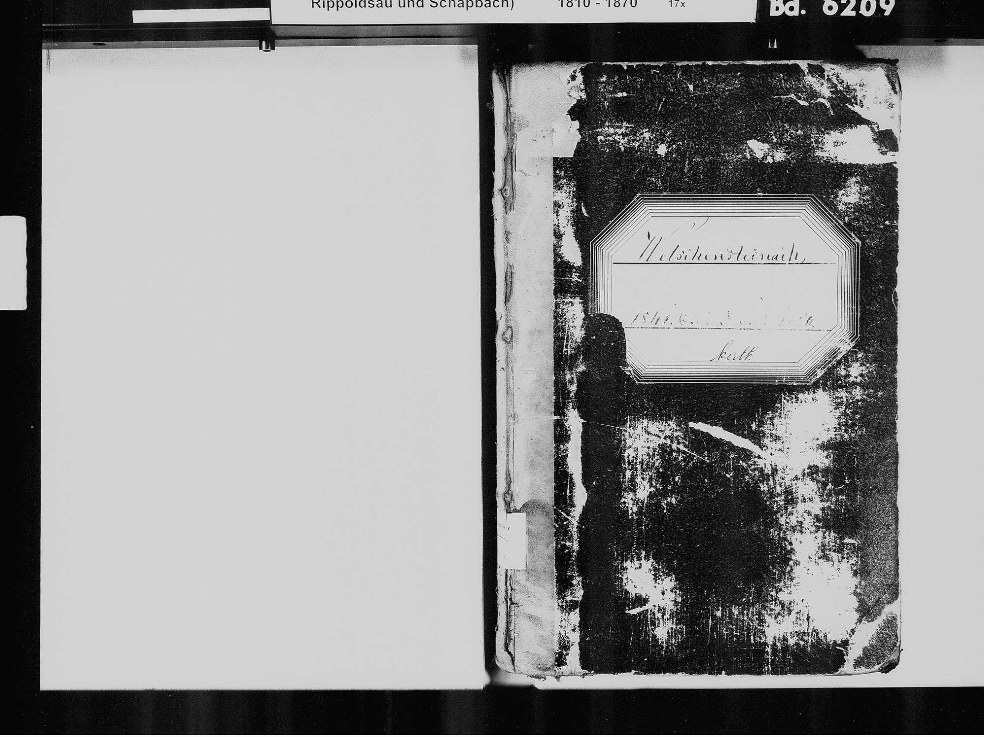 Welschensteinach, Steinach OG; Katholische Gemeinde: Standesbuch 1841-1850, Bild 3