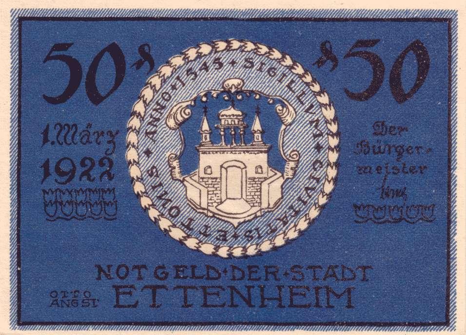 Notgeld der Stadt Ettenheim, Bild 1