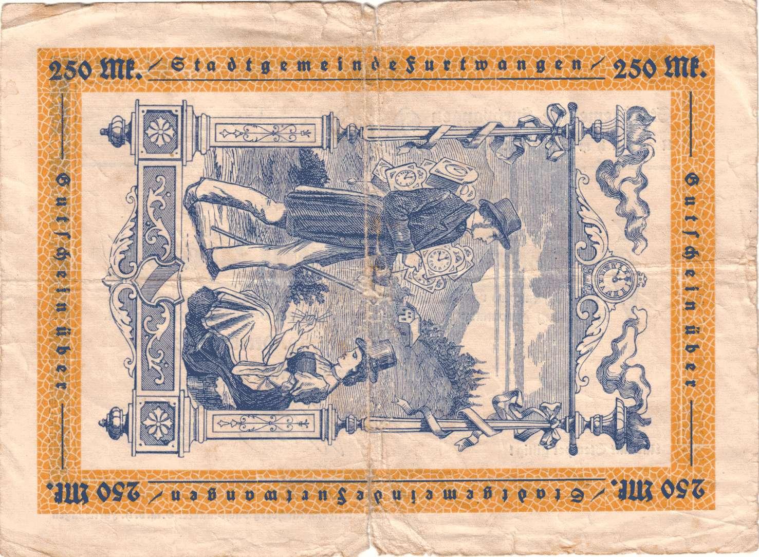 Notgeld der Stadtgemeinde Furtwangen, Bild 2