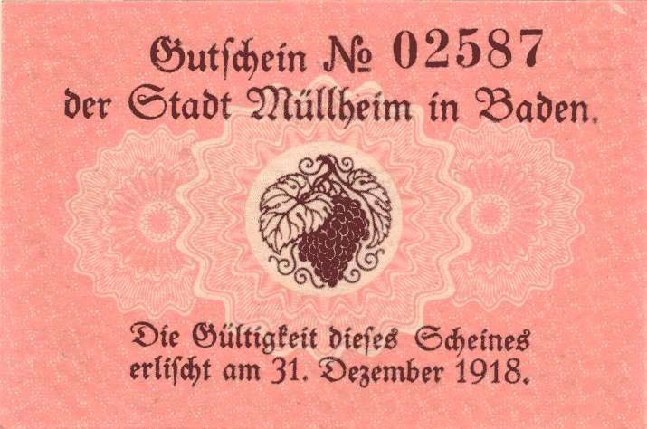 Notgeld der Stadt Müllheim in Baden, Bild 2