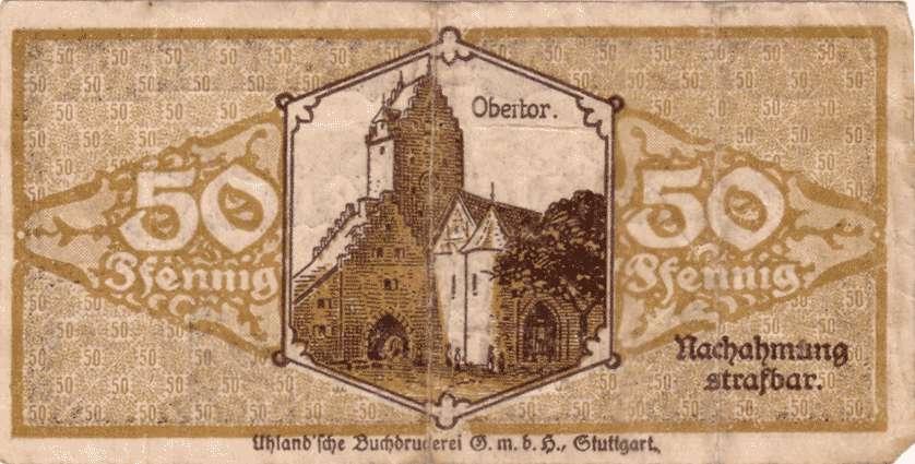 Notgeld der Stadt Pfullendorf, Bild 2