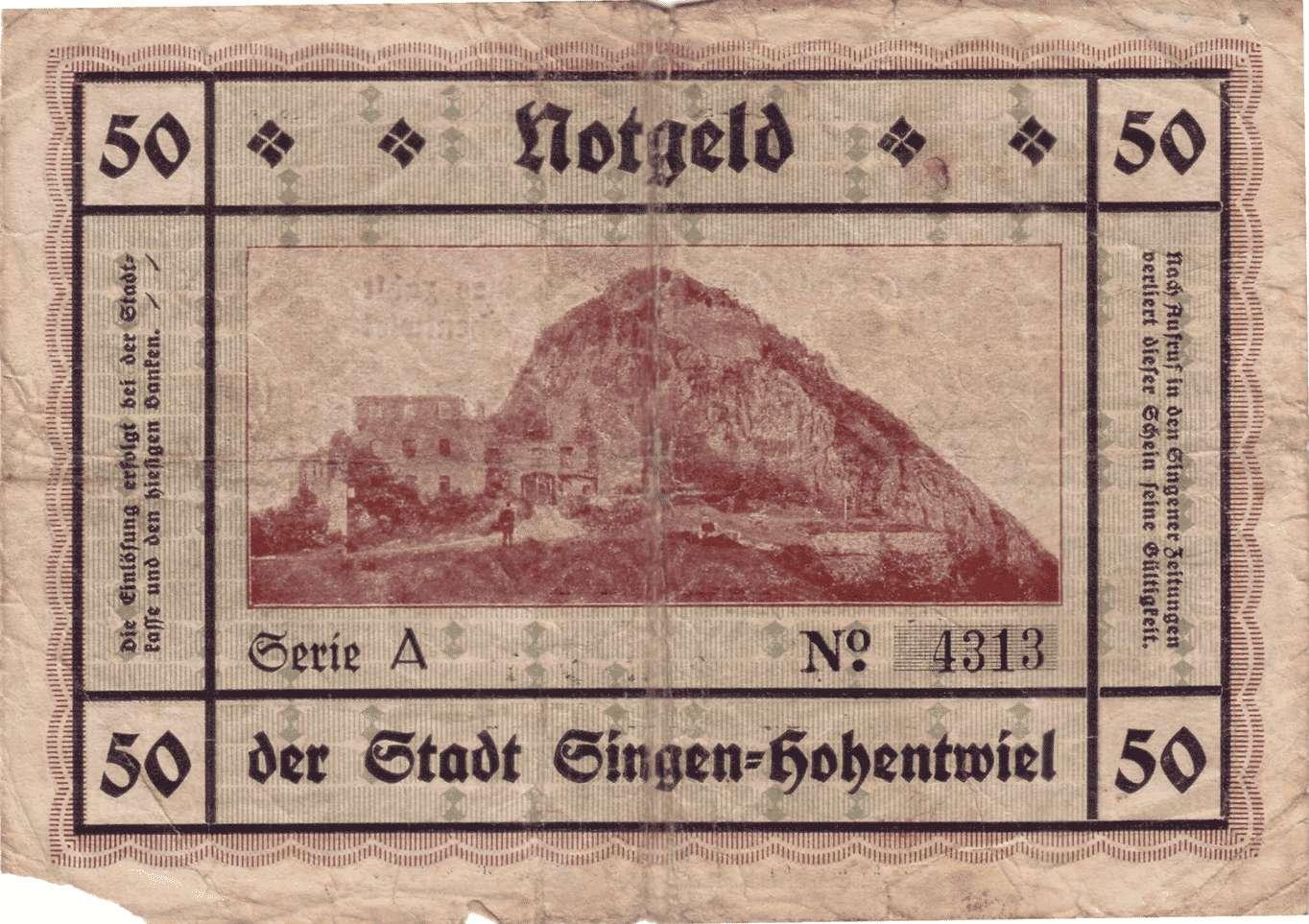 Notgeld der Stadt Singen am Hohentwiel, Bild 3