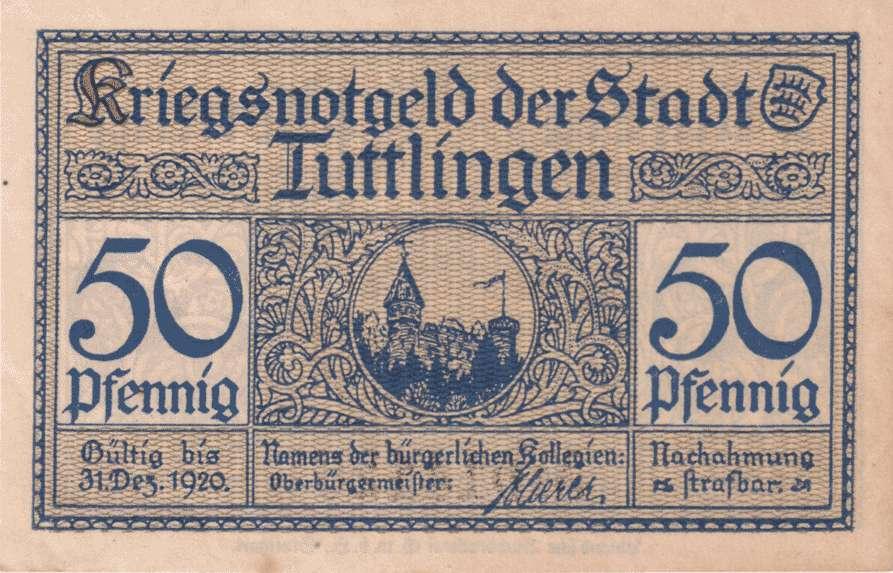 Notgeld der Stadt Tuttlingen, Bild 1