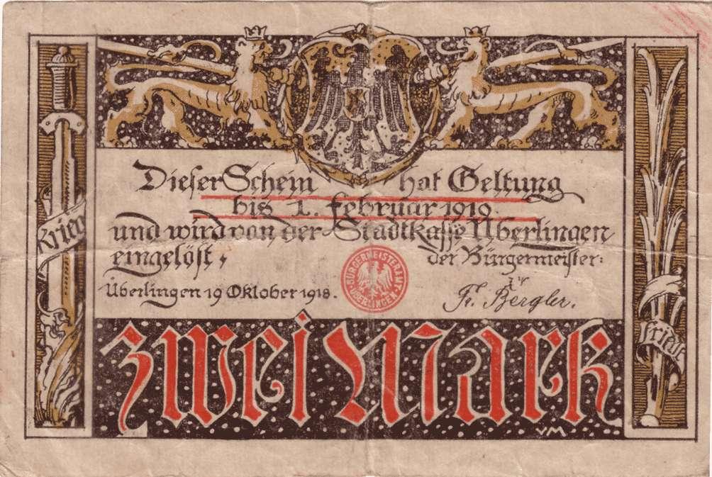 Notgeld der Stadt Überlingen am Bodensee, Bild 3