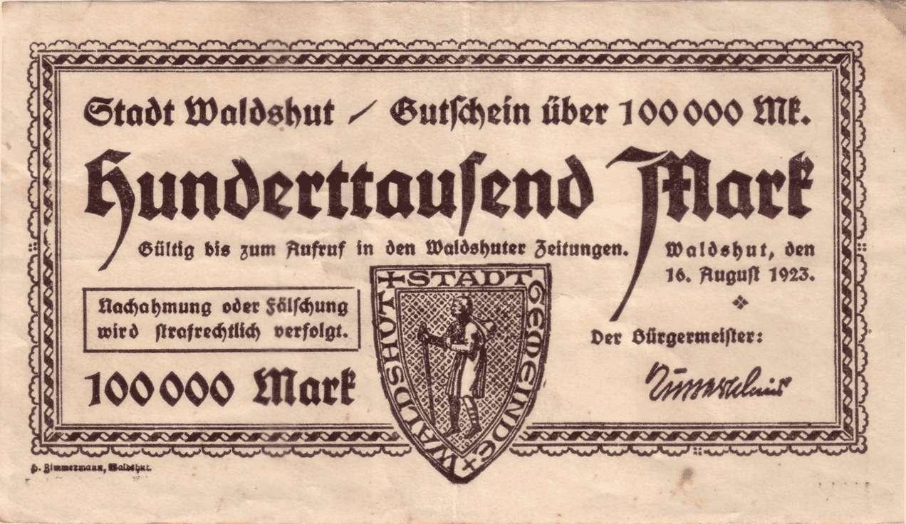 Notgeld der Stadt Waldshut, Bild 3