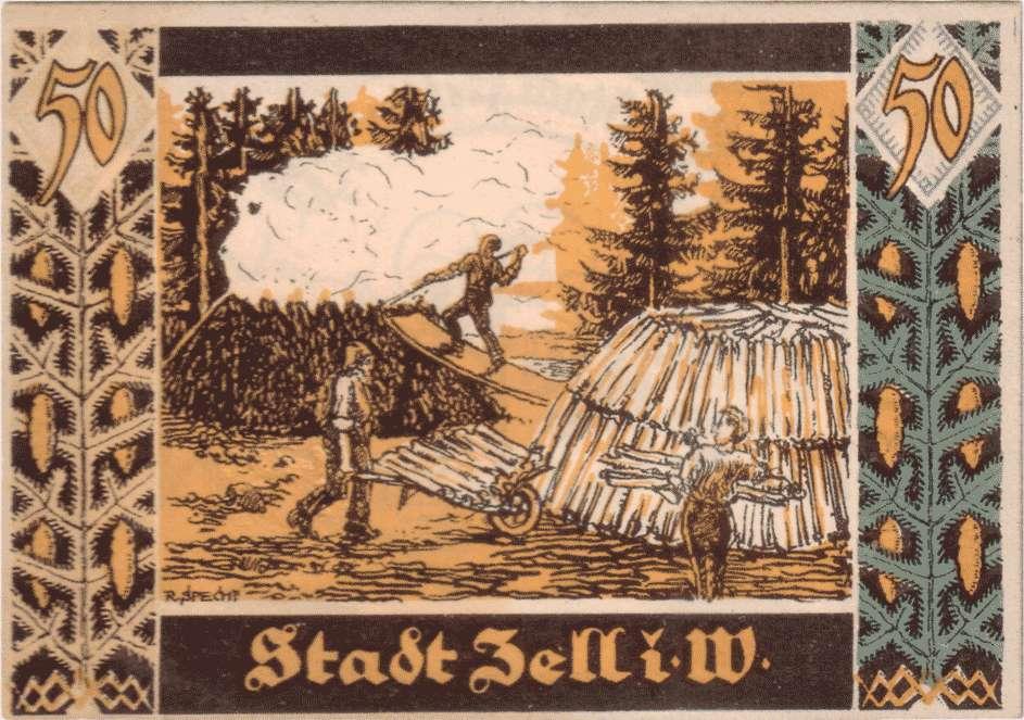 Notgeld der Stadt Zell im Wiesental, Bild 2