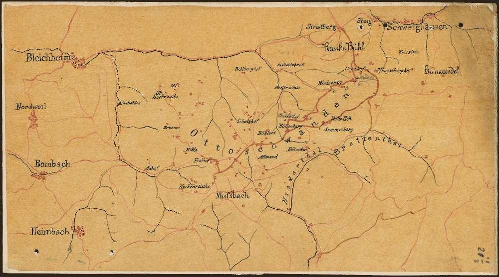 Bau eines Wegs von Ottoschwanden nach Schweighausen und nach dem Streitberg über den Rauhen Bühl, Bild 1