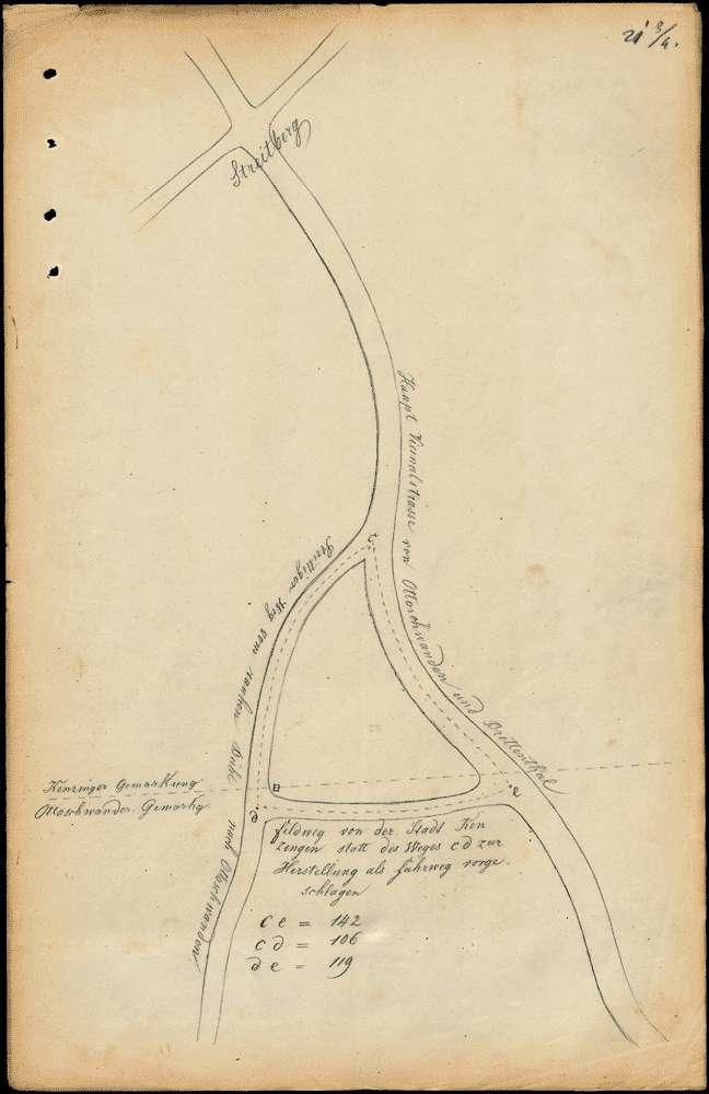 Bau eines Wegs von Ottoschwanden nach Schweighausen und nach dem Streitberg über den Rauhen Bühl, Bild 2