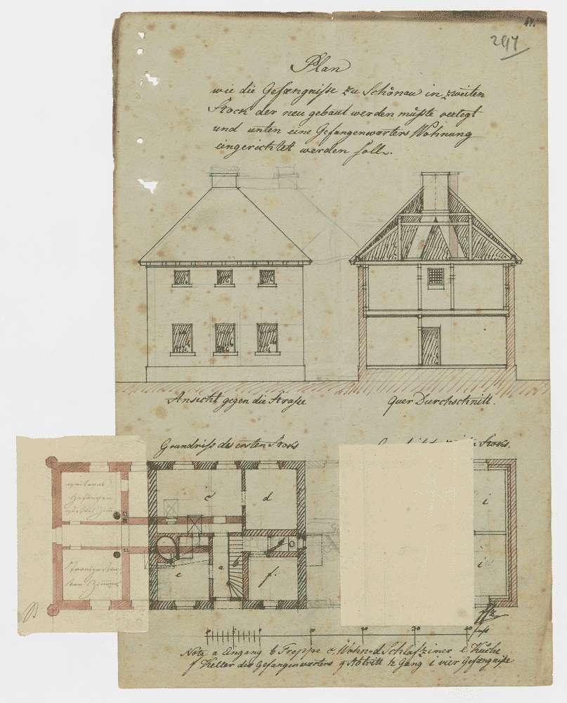 Bausachen; Amtsgefängnis in Schönau; Band 2, Bild 2