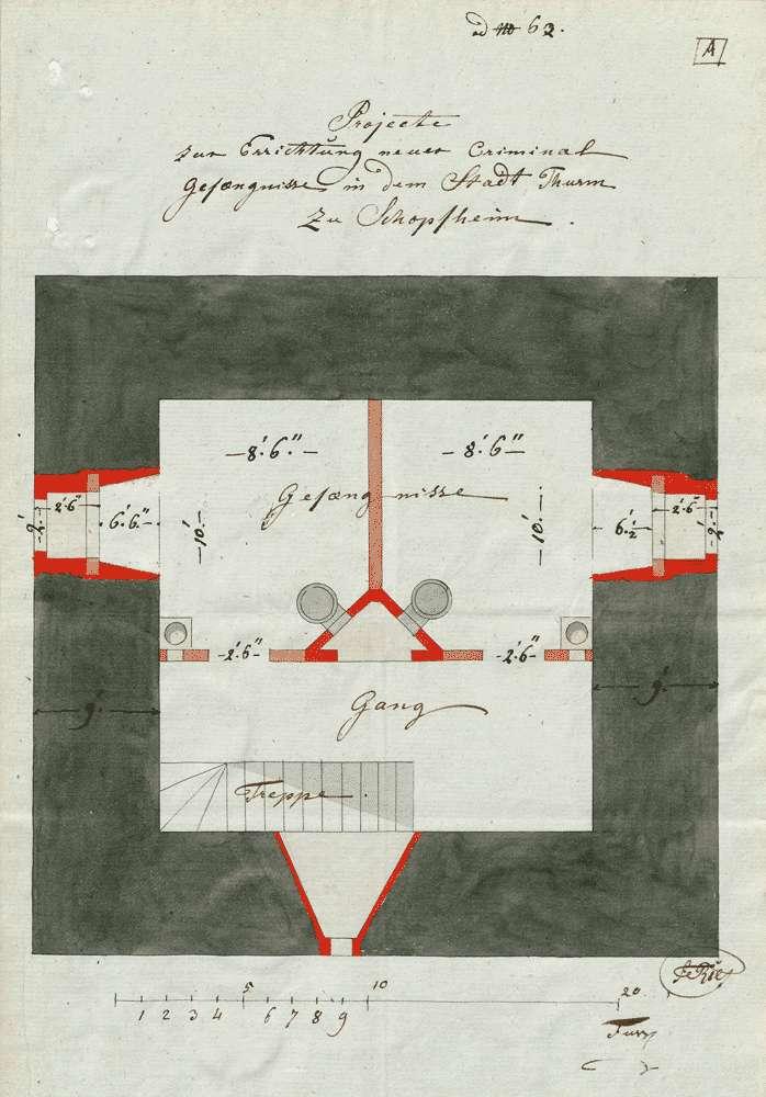 Bausachen; Gefängnis in Schopfheim; Band 1, Bild 1