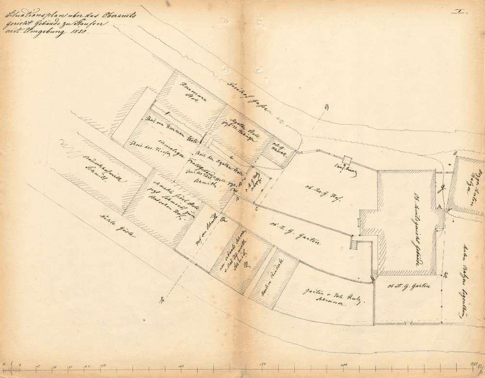 Bausachen; Amtsrevisorat sowie Ober- bzw. Amtsgericht in Staufen, Bild 1
