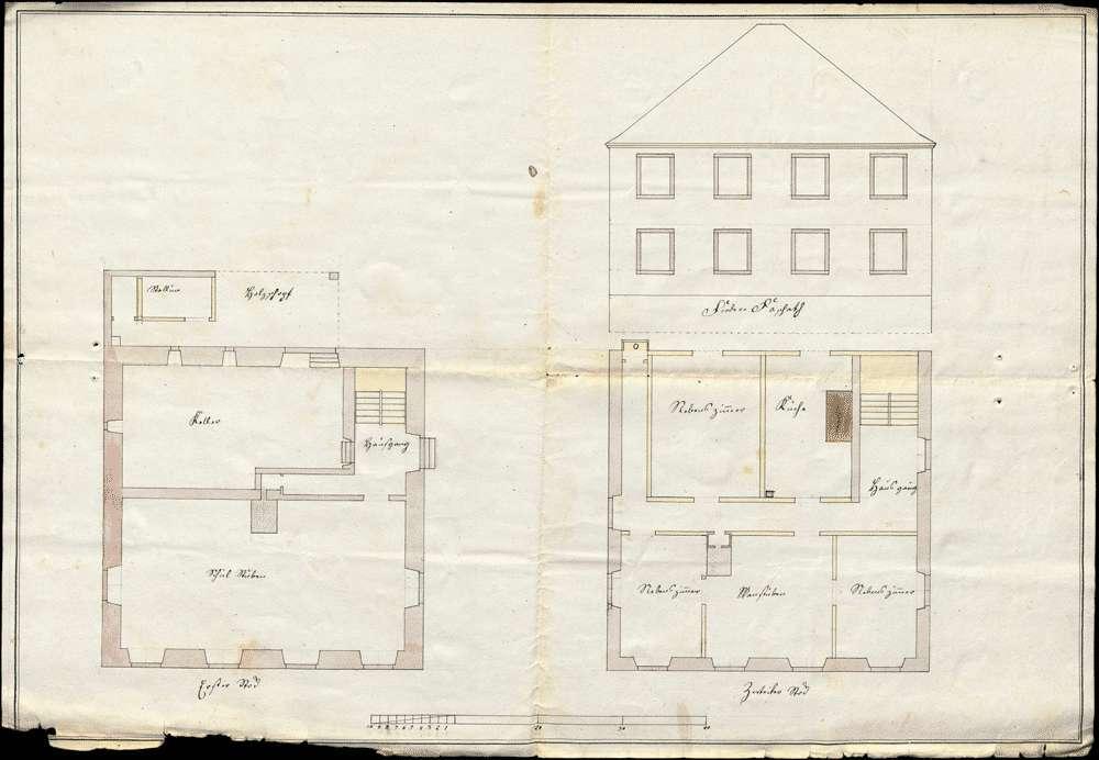Erbauung eines neuen Schulhauses für die evangelische Einwohnerschaft in Oberschaffhausen; Band 1, Bild 1