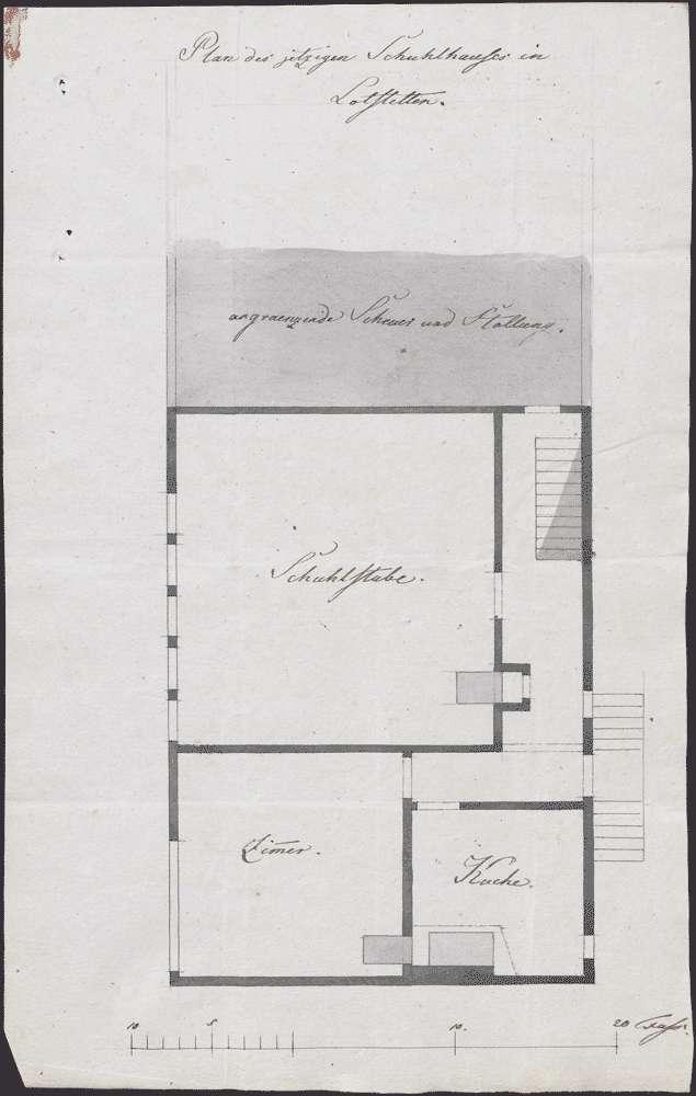 Erweiterung des alten, Bau eines neuen Schulhauses zu Lottstetten, Bild 1