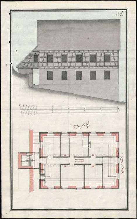 Schulhausbau im unteren Dorf, Bild 1
