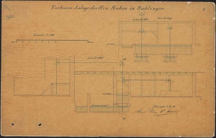 Bitte des Müllers Carl Rubin um Erlaubnis zum Einsetzen von zwei Turbinen, Bild 3
