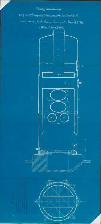 Gesuch des Fabrikanten Bernhard Himmelsbach in Bombach um Erlaubnis zur Errichtung eines feststehenden Dampfkessels, Bild 2