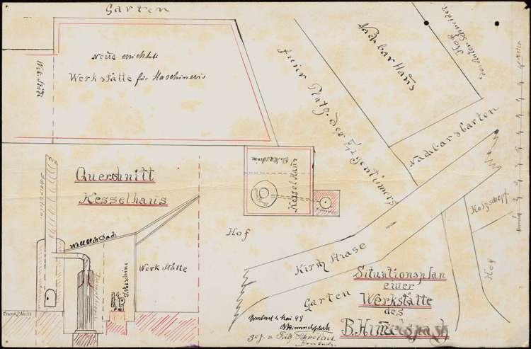 Gesuch des Fabrikanten Bernhard Himmelsbach in Bombach um Erlaubnis zur Errichtung eines feststehenden Dampfkessels, Bild 3