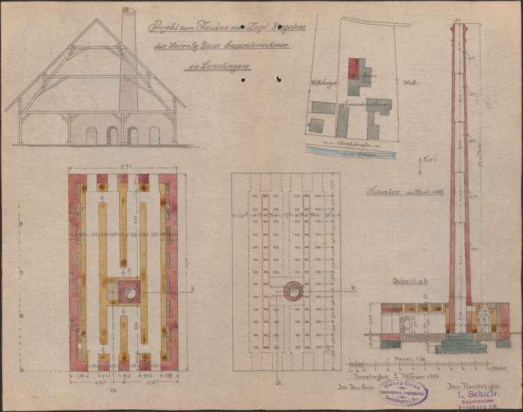 Errichtung eines Ziegelofens durch Bauunternehmer Georg Gauß, Bild 1