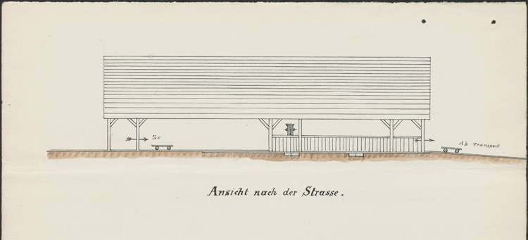 Gesuch des Sägemüllers Wilhelm Burger in Denzlingen um Genehmigung zum Einbau eines Walzengatters im bestehenden Sägewerk, Bild 3
