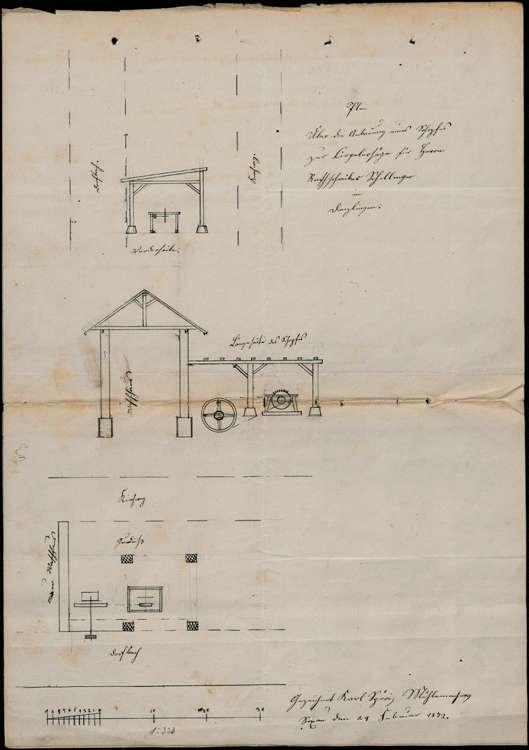 Bitte des Ratsschreibers Andeas Schillinger um Erlaubnis zur Einstellung eines Wasserrads in den Dorfbach zu Denzlingen, Bild 2