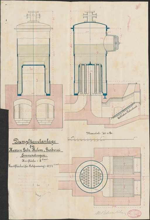 Gesuch der Firma M. Rehm & Söhne um Erlaubnis zur Aufstellung eines Dampfkessels, Bild 3