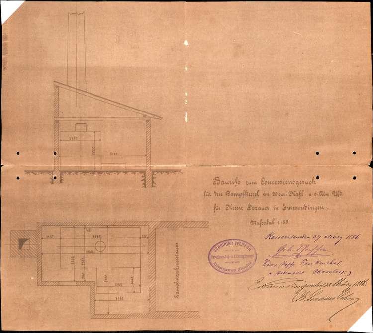 Gesuch der Firma Chr. Sexauer & Söhne um Erlaubnis zur Erweiterung der Gerberei; Anlegung eines Dampfkessels, Bild 2