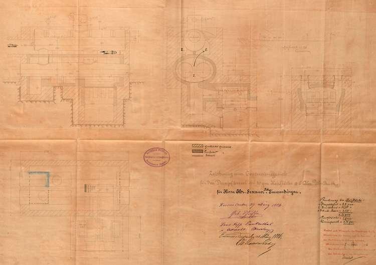 Gesuch der Firma Chr. Sexauer & Söhne um Erlaubnis zur Erweiterung der Gerberei; Anlegung eines Dampfkessels, Bild 3