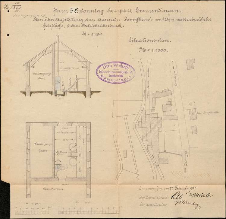 Gesuch der Firma J.P. Sonntag um Erlaubnis zur Aufstellung eines Dampfkessels, Bild 2