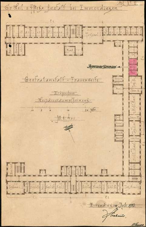 Heil- und Pflegeanstalt in Emmendingen, hier: Herstellung einer Dauerbadanlage, Bild 2