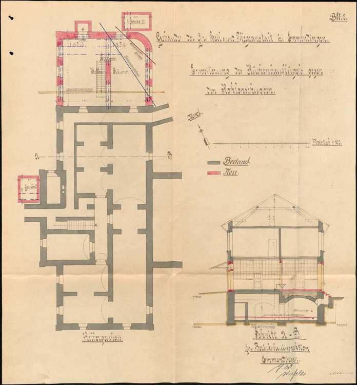 Heil- und Pflegeanstalt in Emmendingen, hier: Erweiterung der Kochküche, Bild 2