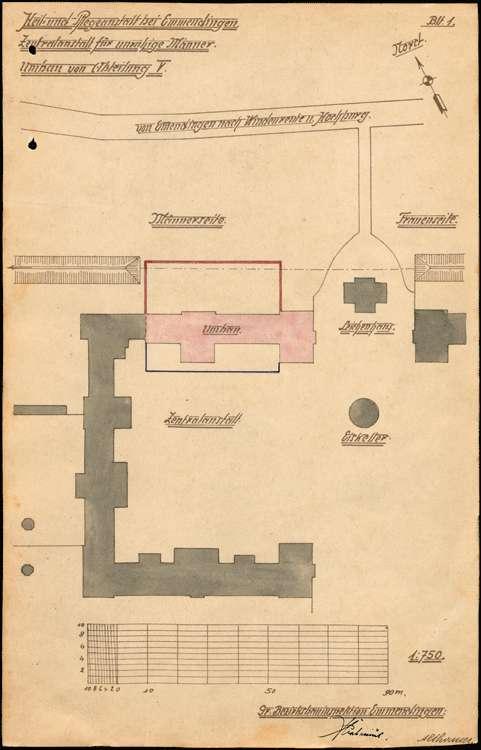 Heil- und Pflegeanstalt in Emmendingen, hier: Umbau der Männerabteilung, Bild 1