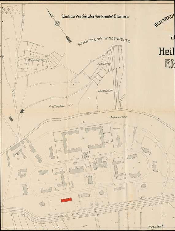 Heil- und Pflegeanstalt in Emmendingen, hier: Umbau des Hauses für körperlich kranke Männer, Bild 1