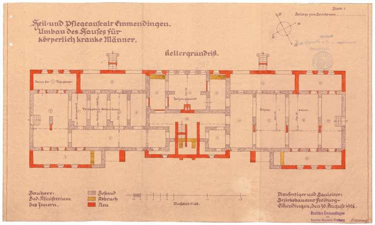 Heil- und Pflegeanstalt in Emmendingen, hier: Umbau des Hauses für körperlich kranke Männer, Bild 3