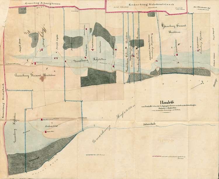 Vermessung der Gemarkungen Freiamt, Sexau und Tennenbach, Bild 1