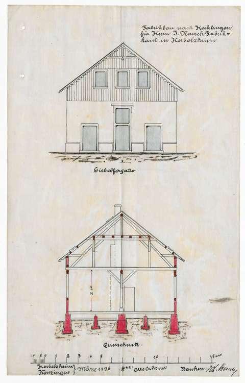 Errichtung und Betrieb einer Zigarrenfabrik in Hecklingen durch die Firma J. Neusch von Herbolzheim, Bild 2