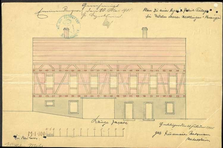 Errichtung einer Zigarrenfabrik in Hecklingen durch Wilhelm Moser, Bild 3