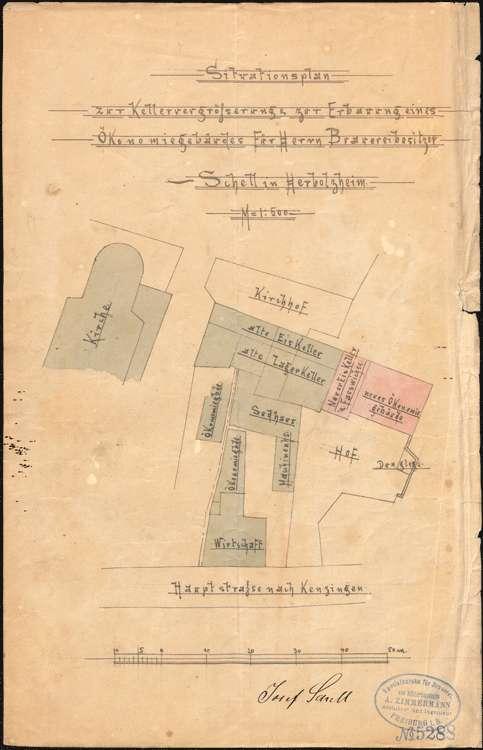Genehmigung für Bierbrauer J. Schell in Herbolzheim zur Aufstellung eines Dampfkessels, Bild 3