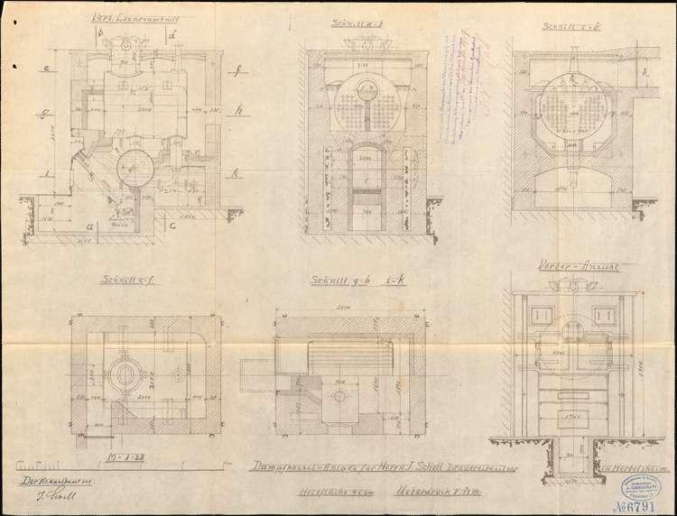 Genehmigung zur Aufstellung eines Dampfkessels für Bierbrauer J. Schell, Bild 1