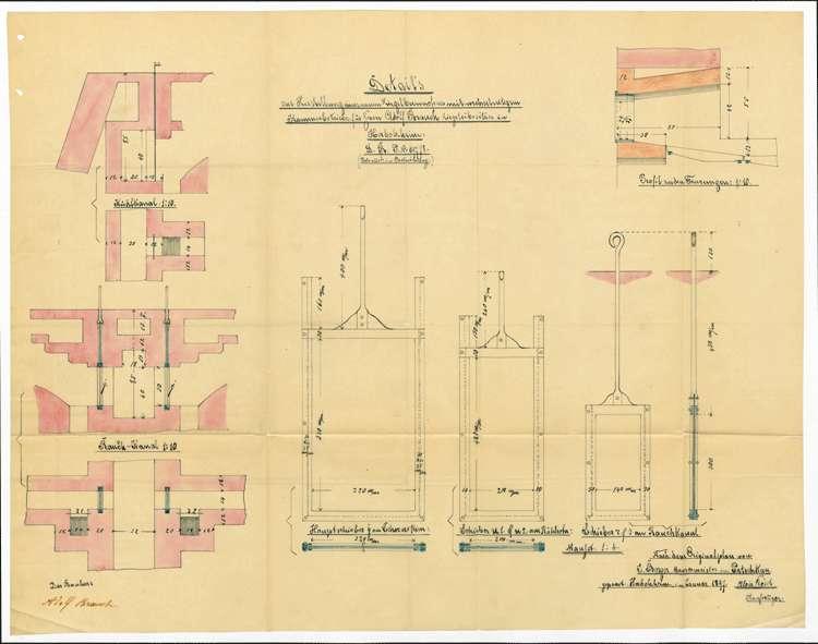 Gesuch des Ziegeleibesitzers Adolf Bauch um Genehmigung zur Errichtung eines Ziegelbrennofens, Bild 3