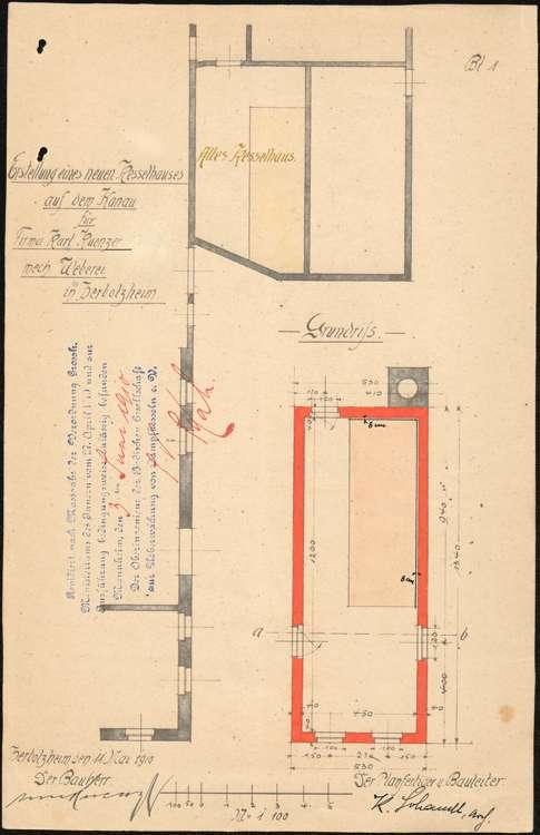Gesuch des Fabrikanten Karl Kuenzer um Erlaubnis zur Anlage eines feststehenden Dampfkessels, Bild 3