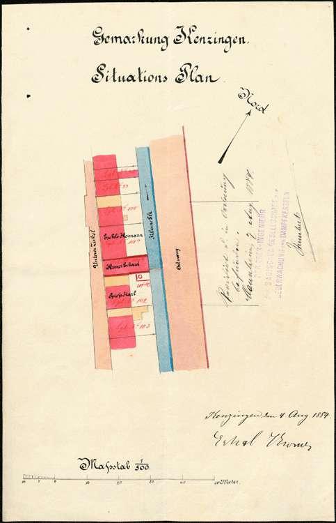 Gesuch der Stockfabrikanten E. und C. Kromer um Erlaubnis zur Aufstellung eines Dampfkessels, Bild 3