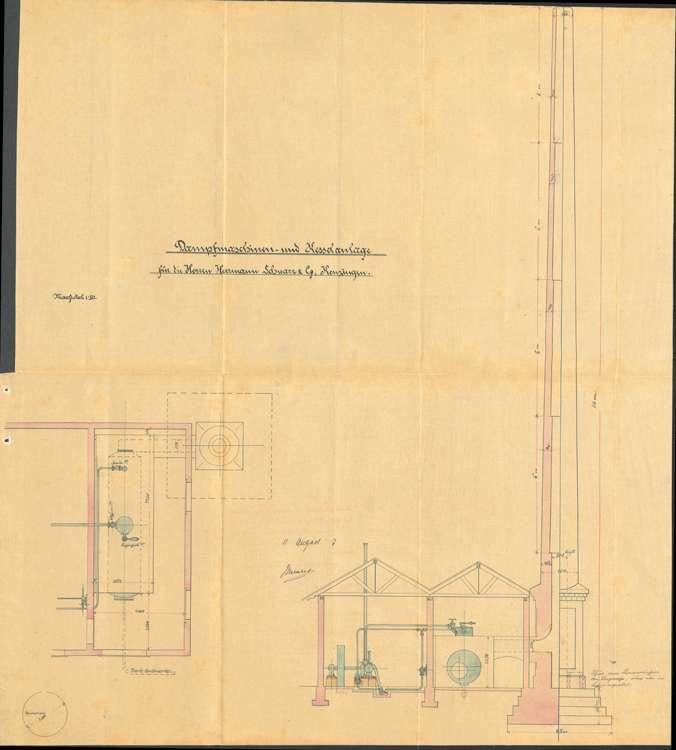 Aufstellung eines Dampfkessels und einer Dampfmaschine durch Hermann Schwarz, Bild 2