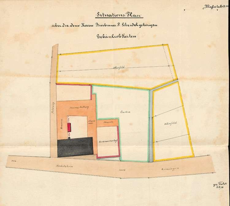 Gesuch der Bierbrauer Peter und Franz Scheidel um Erlaubnis zur Errichtung eines feststehenden Dampfkessels, Bild 1