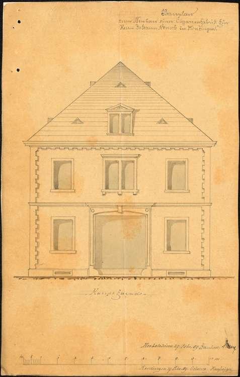Bau und Betrieb einer Zigarrenfabrik in Kenzingen durch die Firma Neusch aus Herbolzheim, Bild 1
