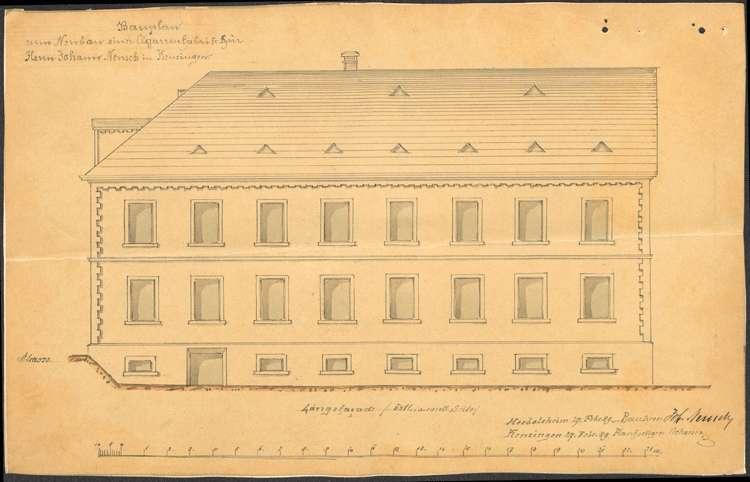 Bau und Betrieb einer Zigarrenfabrik in Kenzingen durch die Firma Neusch aus Herbolzheim, Bild 2