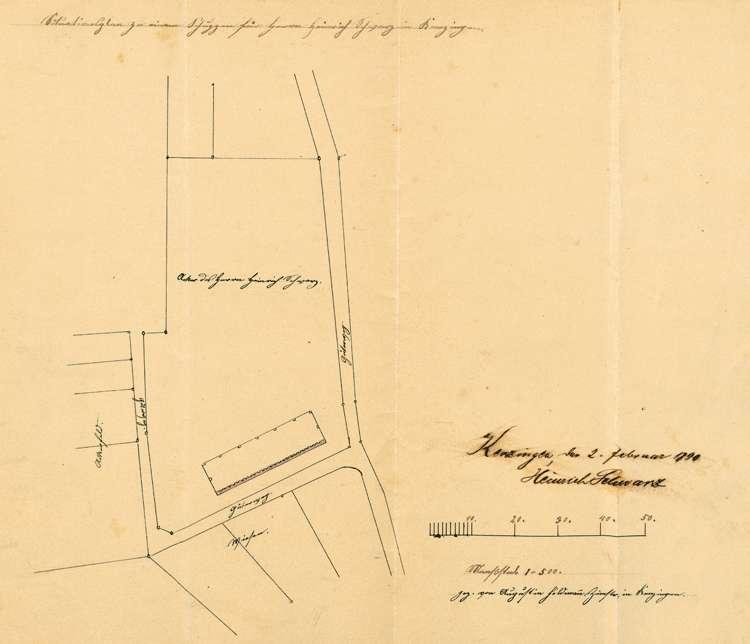 Gesuch des Heinrich Schwarz um Genehmigung zur Errichtung einer Feldziegelei, Bild 1