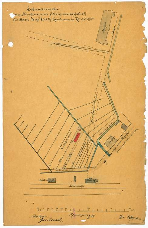 Bau und Betrieb einer Schuhwarenfabrik durch den Kaufmann Josef Lösch, Bild 1