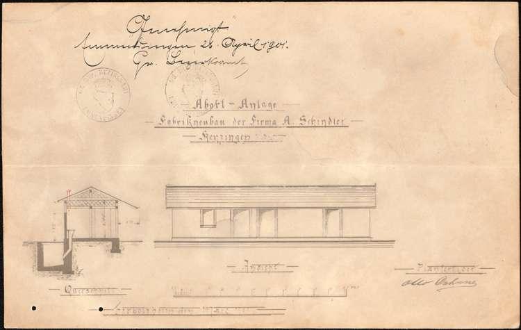 Bau und Betrieb einer Zigarrenfabrik durch die Firma Arnold Schindler aus Herbolzheim, Bild 1